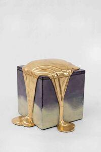 Nancy Lorenz, 'Red Gold Pour Box', 2019