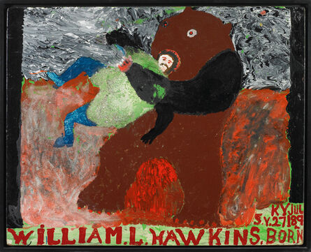 William Hawkins, 'Man Wrestling Bear ', 1985