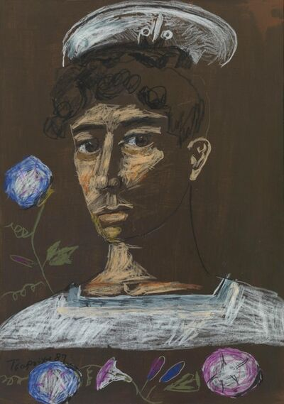 Yannis Tsarouchis, 'Sailor with flowers', 1987