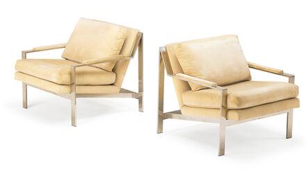 Cy Mann, 'Cy Mann Pair Of Lounge Chairs', 1970s