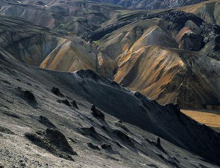 Olivier Föllmi, 'Début de la coulée de lave Laugahrau, Islande'