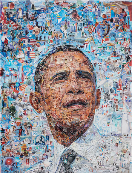 Vik Muniz, 'Obama (from the series 'Pictures of Magazine 2')', 2012