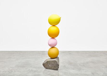 Gimhongsok, 'Untitled (Short People) Yellow, Yellow, Pink, Yellow', 2018