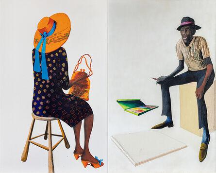 Benny Andrews, 'Portrait of the Portrait Painter ', 1987