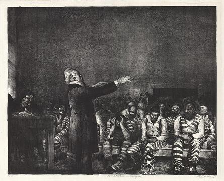 George Bellows, 'Benediction in Georgia.', 1916