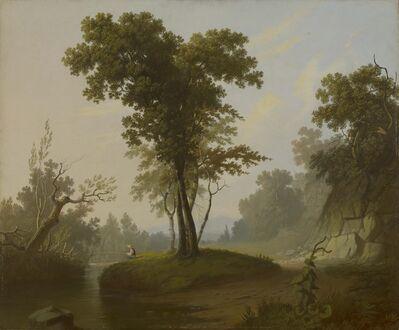 George Caleb Bingham, 'Landscape with Fisherman', ca. 1845-1850