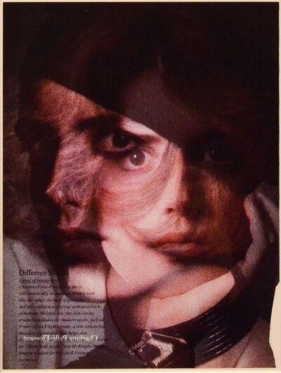 Robert Heinecken, 'Overlapped Faces - K', 1991