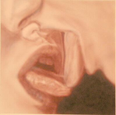 Betty Tompkins, 'Kiss grid painting #1', 2007