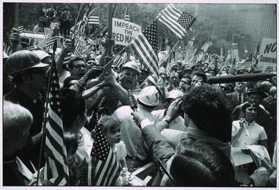 Garry Winogrand, 'Hard Hat Rally, New York City, 1969', printed 1978