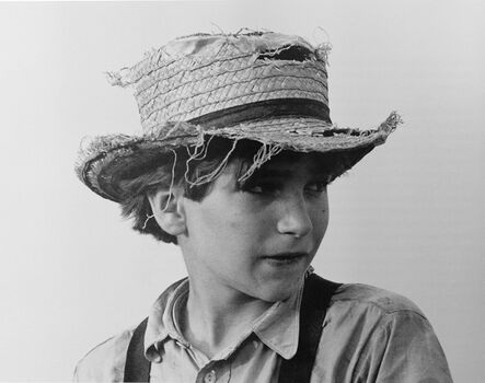 George Tice, 'Amish Boy with Straw Hat, Lancaster, PA', 1965