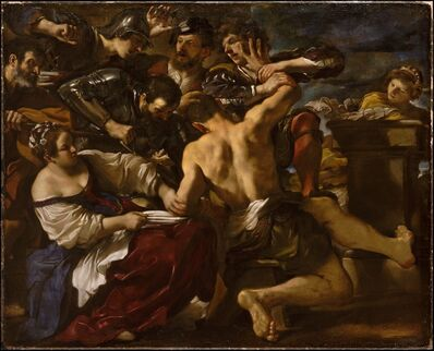 Guercino, 'Samson Captured by the Philistines', 1619
