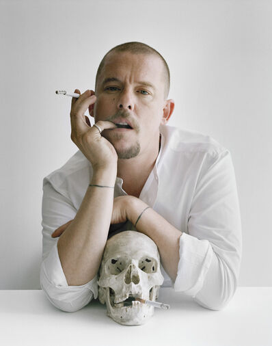 Tim Walker, 'Alexander McQueen with skull and cigarettes, Clerkenwell, London', 2009