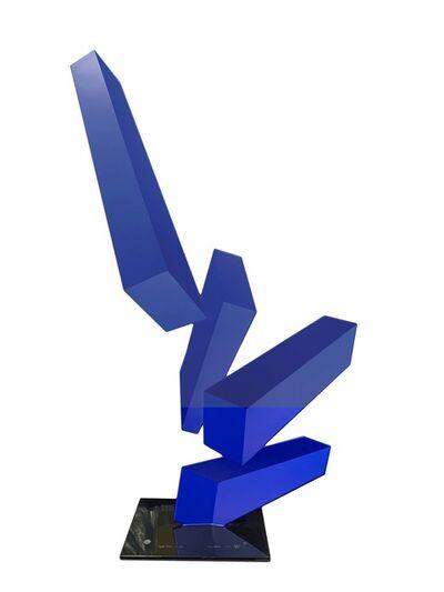 Rafael Barrios, 'Projection Obliqua (iridescent blue)', 2018