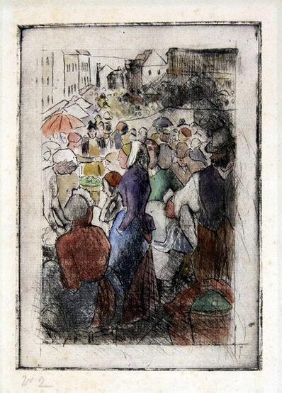 Camille Pissarro, 'Marche de Gisors (Rue Cappeville); First State, Hand Colored ', 1894
