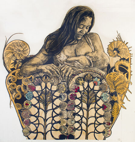 Swoon, 'Dawn and Gemma', 2014