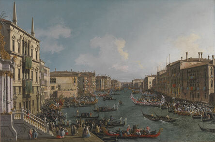 Canaletto, 'A Regatta on the Grand Canal', about 1740