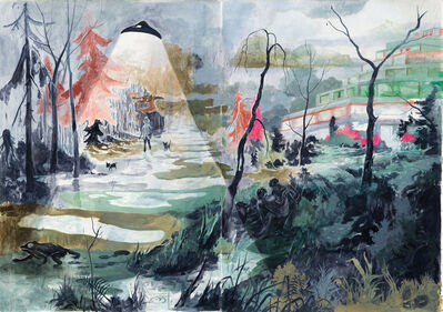 Tilo Baumgärtel, 'Der grüngraue Tag', 2014