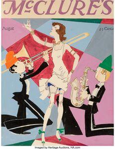 John Held Jr., 'Jazz, McClure magazine cover study, August'