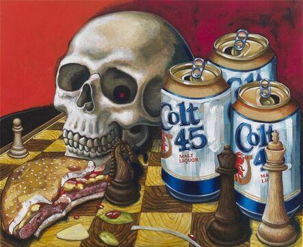 Tom Sanford, 'Chess Board & Cheeseburger Still Life', 2020