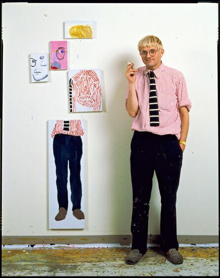 Jim McHugh, 'David Hockney In His Studio, Los Angeles', 1984