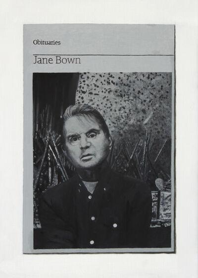 Hugh Mendes, 'Obituary: Jane Bown (Bacon)', 2015