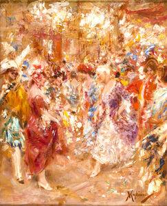 Vincenzo Migliaro, 'Masquerade party'