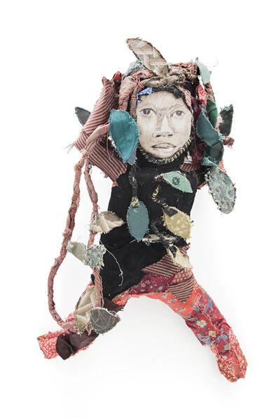 Marita Dingus, 'RED LEGS FABRIC BABY', 2003