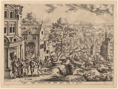 Gerard de Jode after Hans Bol, 'Tobias Arrives at the House of Raguel'