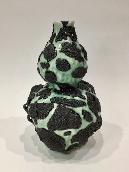 Cathy Lu, 'Vase (Gourd Shape with Black Growths)', 2018