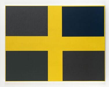 Jon Thompson, 'Simple Paintings, Yellow Cruciform (Goya's Shadows)', 2012-2013