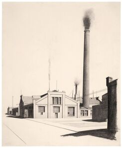 Carl Grossberg, 'Industrieanlge mit Schornstein (König & Bauer, Würzburg)', 1924