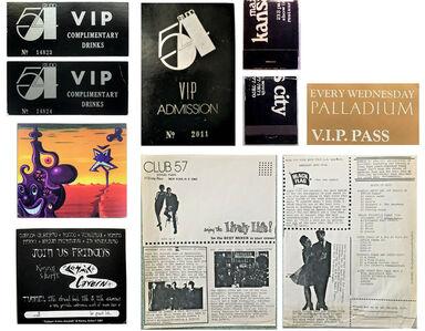 Andy Warhol, 'NYC Club Ephemera Collection (7 PIECE SET)-  STUDIO 54 VIP, Max's Kansas City, Club 57, Palladium, and the Tunnel.', 1980's