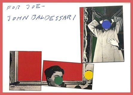 John Baldessari, 'Three Red Paintings (Signed Card)', ca. 1989