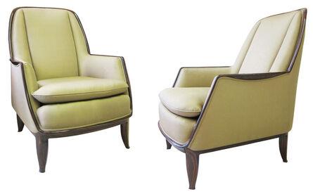 "Jacques-Emile Ruhlmann, 'Pair of ""Confortable Redhead"" boudoir armchairs', 1931"