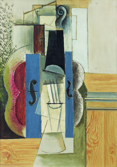 Pablo Picasso, 'Geige, an der Wand hängend (Violin Hanging on the Wall) ', 1913