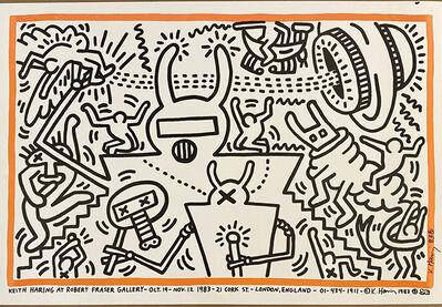 Keith Haring, 'Keith Haring at Robert Fraser Gallery Oct 19- Nov 22 1983', 1983