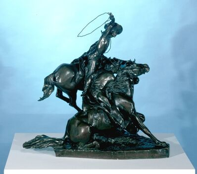 Solon H. Borglum, 'Lassoing Wild Horses', 1898