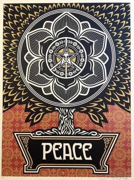 Shepard Fairey, 'Shepard Fairey Peace Tree Golden Edition Artist Proof ', 2007