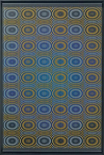 Alberto Biasi, 'Yellow rain', 2012