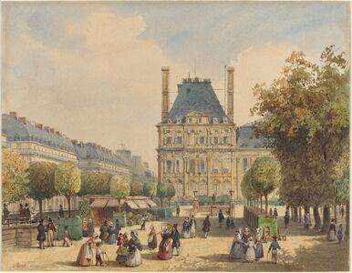 François Etienne Villeret, 'Rue de Rivoli and Pavillon Marsan'