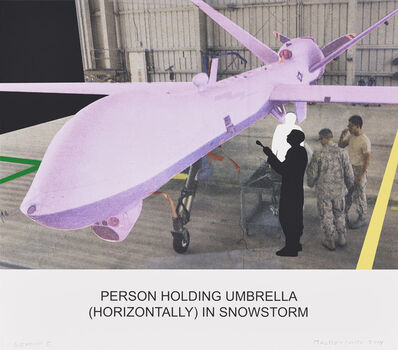 John Baldessari, 'The News: Person Holding Umbrella', 2014