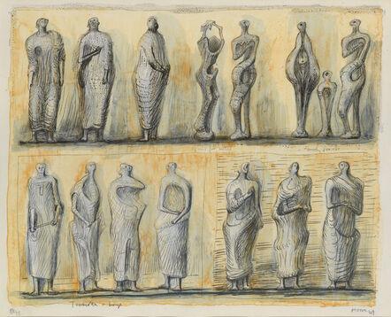Henry Moore, 'Standing Figures', 1949
