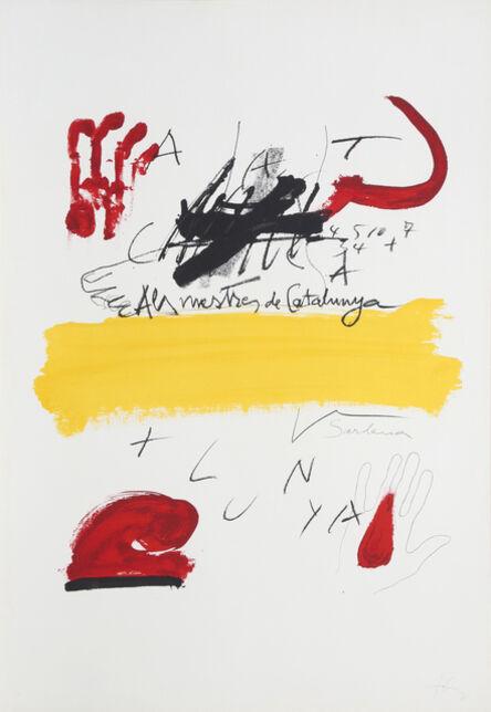 Antoni Tàpies, '2 from Als Mestres de Catalunya', 1974