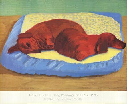 David Hockney, 'Dog Painting 43', 1995