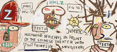 Jean-Michel Basquiat, 'Hollywood Africans in front of the Chinese Theatre with Footprints of Movie Stars', 2015