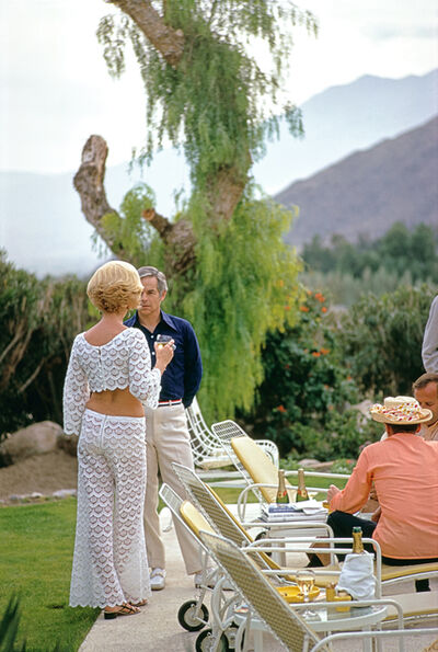 Slim Aarons, 'Champagne by the Pool', 1970