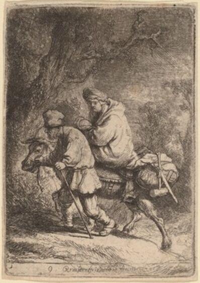 Rembrandt van Rijn, 'The Flight into Egypt: Small', 1633