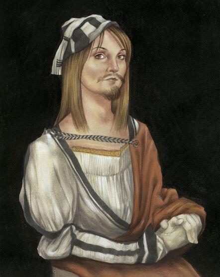 Anita Kunz, 'Self Portrait with Facial Hair: Durer'