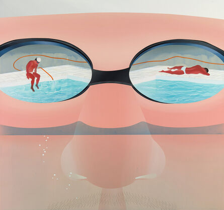 Yang-Tsung Fan, 'Swimming pool series-getting water up to your nose', 2013