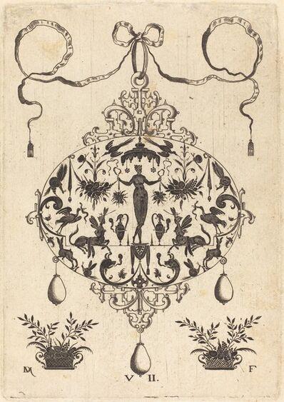 Daniel Mignot, 'Large Pendant, Flora Standing, Holding a Fruit Garland', 1596